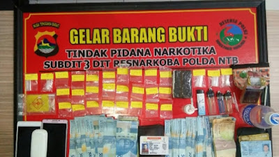 Ditresnarkoba Polda NTB Ringkus Dua Tersangka Narkoba di Wilayah Lingsar