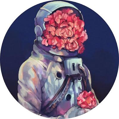افتار رسومات رائد فضاء يكتسية الورود افضل افتار على مواقع التواصل
