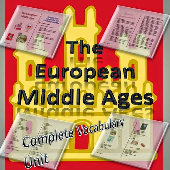 The European Middle Ages Complete Vocabulary Unit