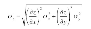 An equation for the propagation of error.