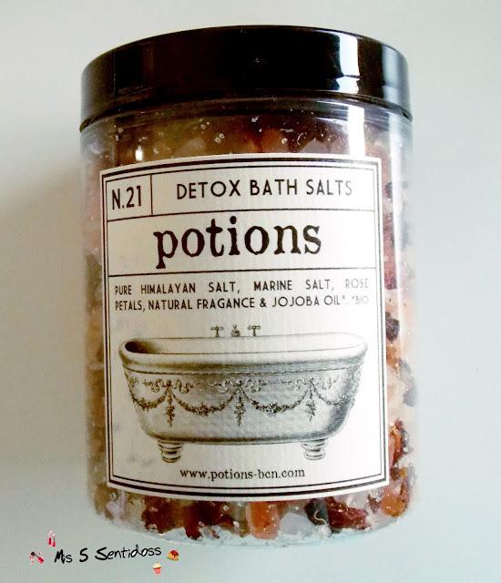 potions bcn Detox Bath Salts Nº21