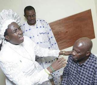 Baba Suwe with Iya Adura