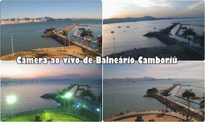 Molhe da Barra Sul Balneário Camboriú ao vivo