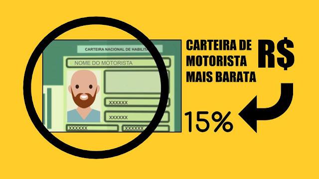 CNH - Carteira de motorista mais barata 15%