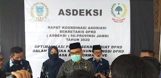 Pj Sekda Provinsi Jambi Secara Resmi Membuka Rakor ASDEKSI Se-provinsi Jambi.