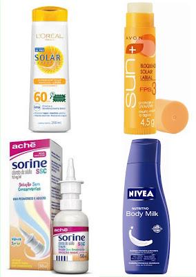 Use protetor solar, Sorine, hidratante e protetor labial