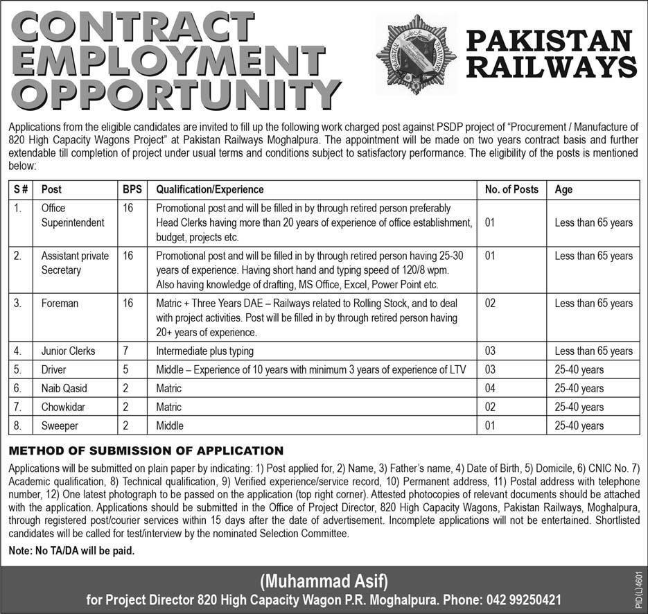 contract-base-govt-jobs-in-pakistan-railways