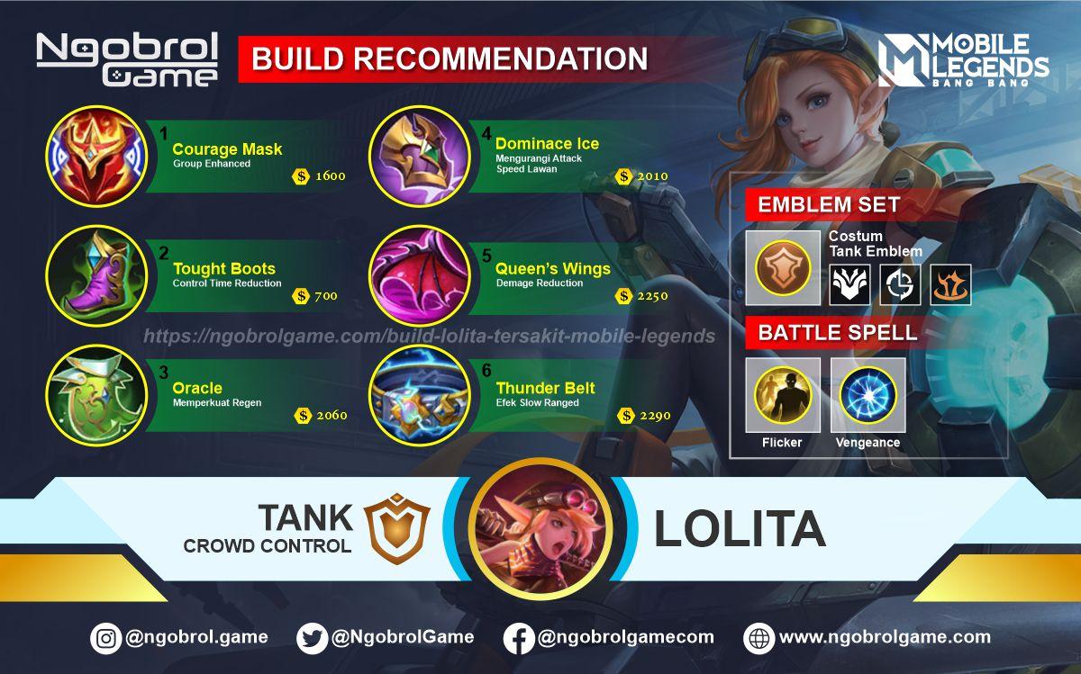 Build Lolita Savage Mobile Legends