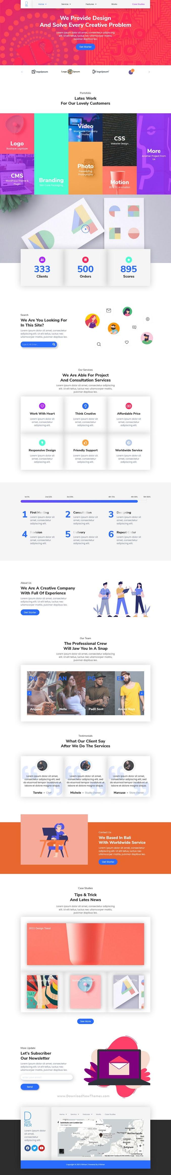 Creative Studio & Digital Agency Elementor Template Kit
