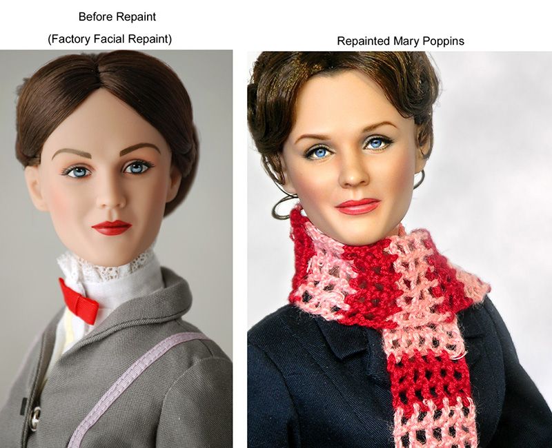 repainted Julie Andrews as Mary Poppins Doll
