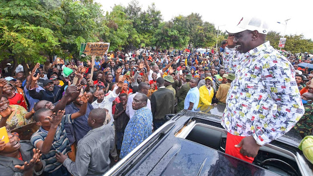 Deputy President William Ruto in a rally