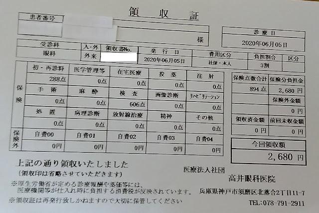 高井眼科医院 2020/6/5 診察