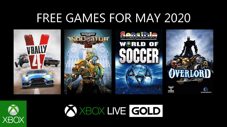 xbox live gold free games may 2020 v rally 4 warhammer 40k inquisitor martyr sensible world of soccer overlord 2 xb1