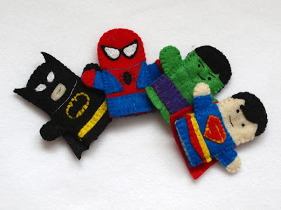 Super Hero Finger Puppets