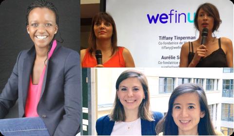 Héroïnes de la FinTech : Diana Brondel, Aurélie Sergent, Tiffany Tinperman, Jeanne Depond, Li Cai