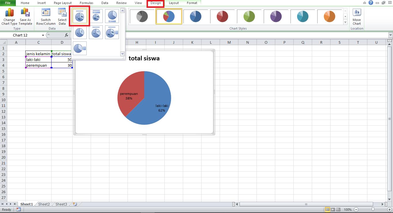 cara mengganti layout diagram pada excel
