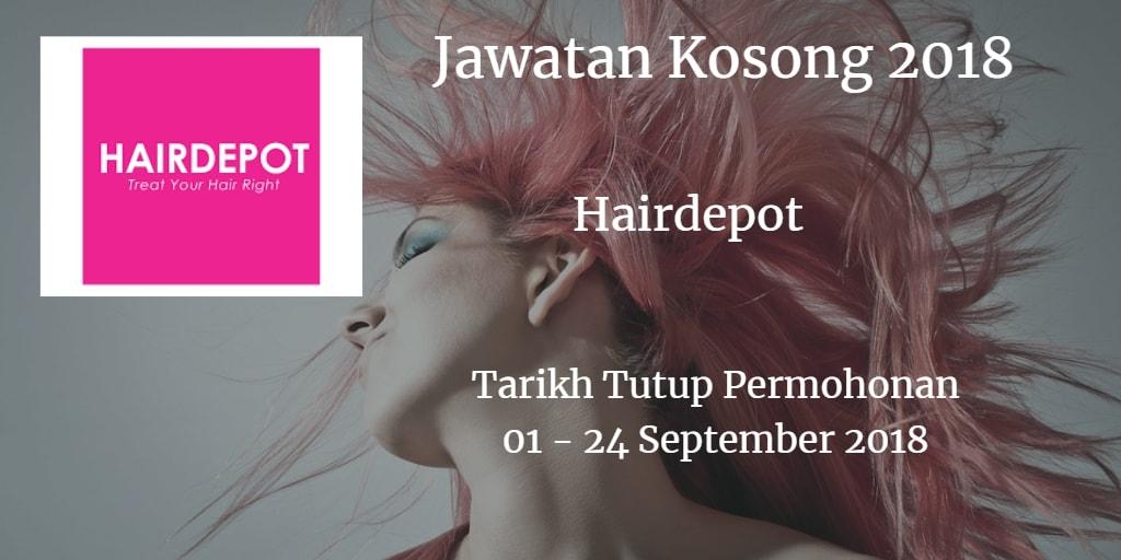 Jawatan Kosong Hairdepot 01 - 24 September 2018