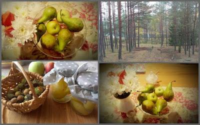 jesień owocarka orzechy gruszki