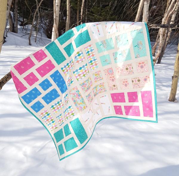 Formal Garden baby quilt | DevotedQuilter.com