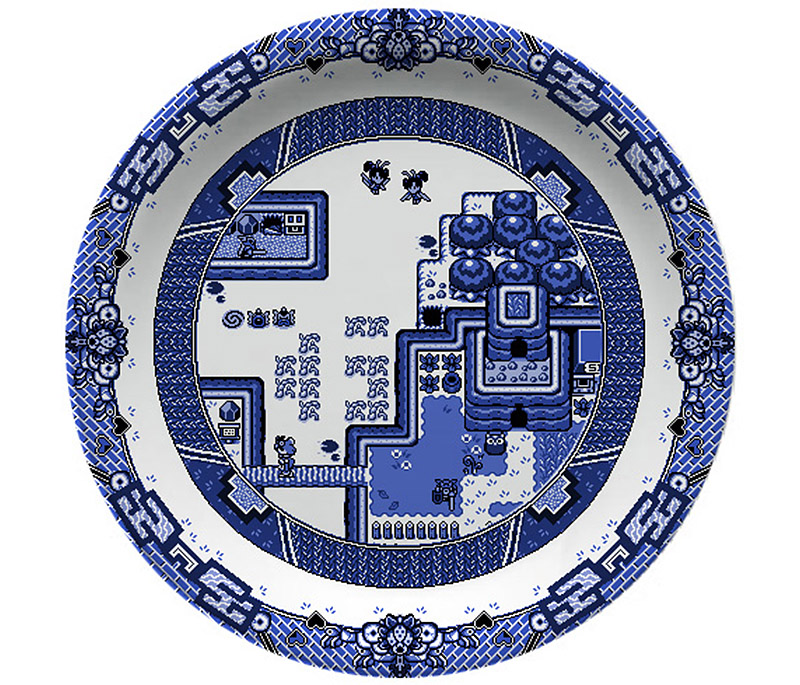 Blue Willow Dinnerware For Video Game Lovers
