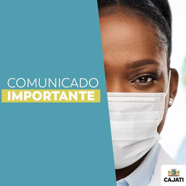 Comunicado do Departamento de Saúde de Cajati