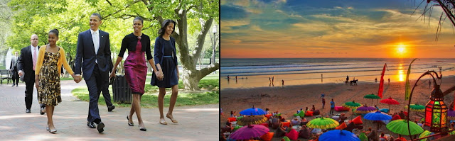Barack Obama in Bali, Obama holiday in Bali, Jokowi, Bali, holiday in Bali, surfing in Bali, Michel Obama