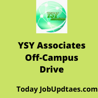 YSY Associates Off-Campus Recruitment Drive