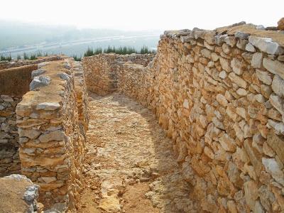 Carrer del Poblat iberic del Puig de la Nao Puig de la Nau Benicarlo Costa de Azahar Arqueologia