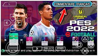 Download eFootball PES 2022 PPSSPP Français Version New Transfer Update & Caméra PS5 Full Eropa Compétition