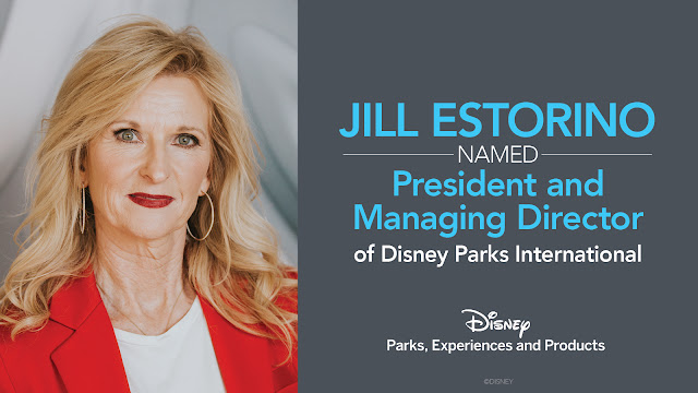 Disney, Jill Estorino, Disney Parks Internationa, Hong Kong Disneyland, Tokyo Disney Resort with the Oriental Land Company, Shanghai Disney Resort, Disneyland Paris