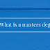 What is an official Master's degree?