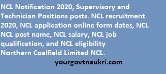 NCL Notification For 512 Post Supervisory And Technician Positions
