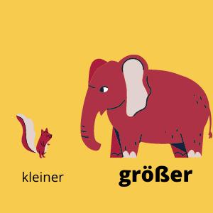 Komparativ. Kostenlos Deutsch lernen auf www.deutsch-ueben.tk