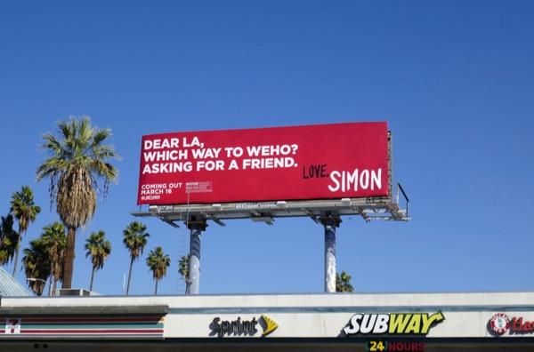 Love Simon movie billboard