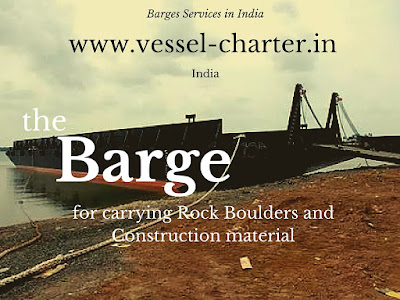 barge for boulders, rock, construction, sand, ODC, ramp, sidewall, India, Maldives, Tuticorin