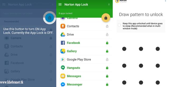 تطبيق اندرويد مميز من نورتون لحماية التطبيقات بكلمة سر Norton App Lock