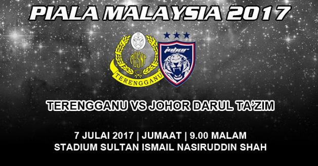 Live Streaming Terengganu vs JDT 7.7.2017 Piala Malaysia