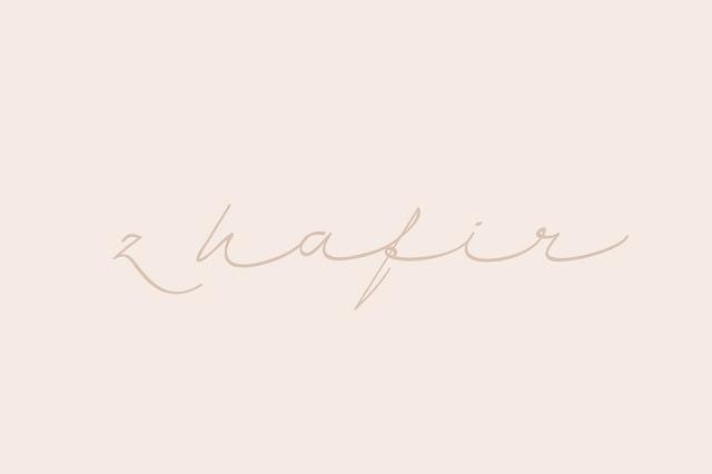 zhafir script font