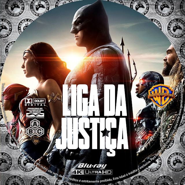 Label Bluray 4K Liga Da Justiça (2017) [Exclusiva]