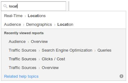 búsqueda google analytics