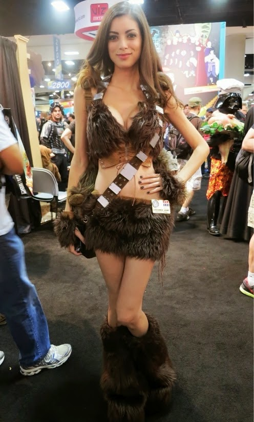 chewbaccA FEMALE COSPLAY bikini
