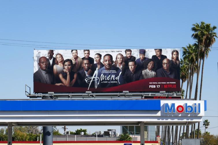 Amend Fight for America docuseries billboard