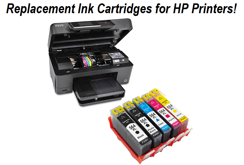 Replacement Ink Cartridges for HP Printers