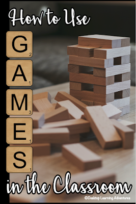 Teacher Tips on using games in the classroom.