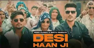 Desi Haan Ji Lyrics - Ndee Kundu x Bintu Pabra