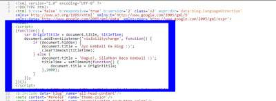 bawah kode head script title change zeep kodein