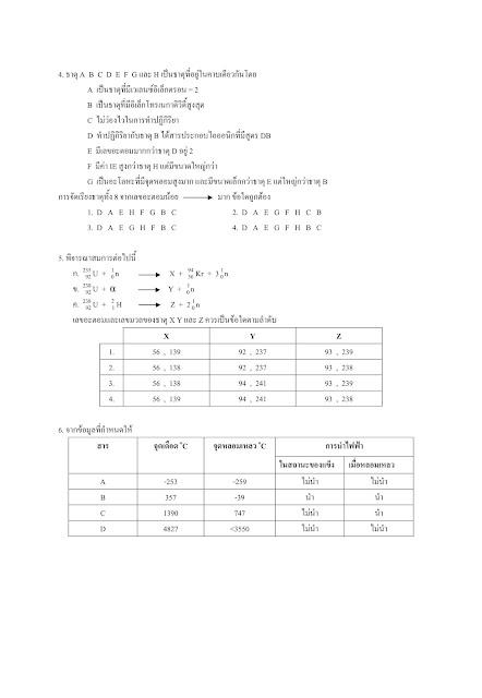 แนวข้อสอบวิชาเคมี PAT2
