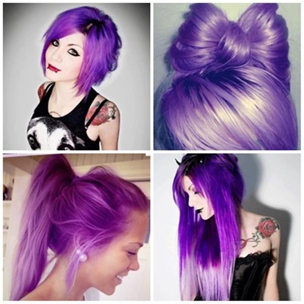 inspiração de cabelo roxo