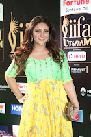 Sridevi Telugu Actressi in green Yellow Anarkali Dress at IIFA Utsavam Awards 022.JPG