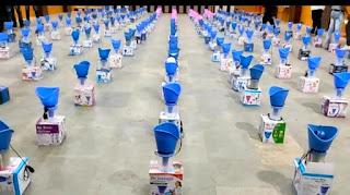 युथ कांग्रेस ने किया निःशुल्क वेपो राइजर मशीनों का वितरण